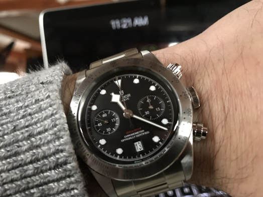 tudor black bay chronograph review