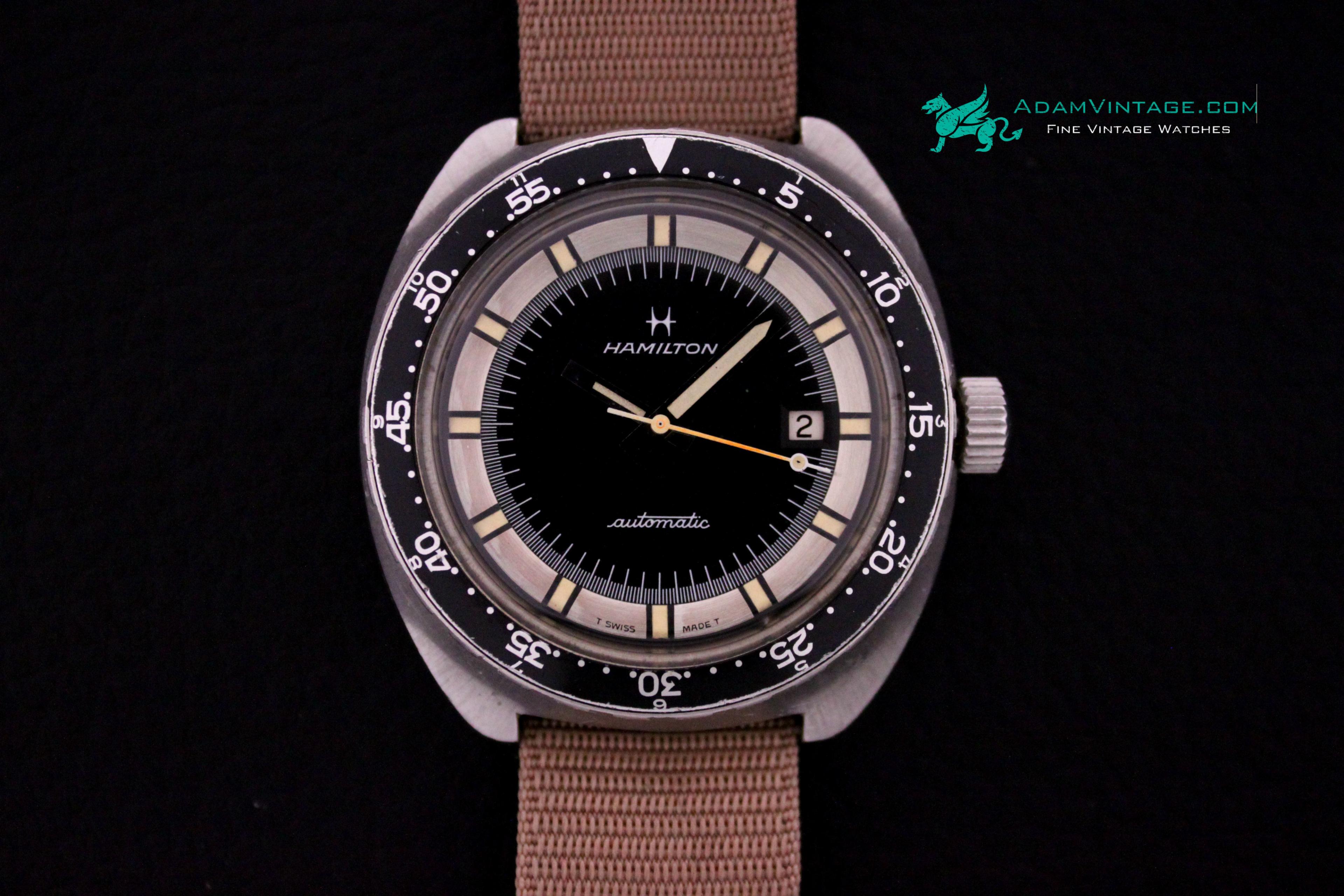 Vintage hamilton pan europ mens 42mm automatic steel for Hamilton dive watch